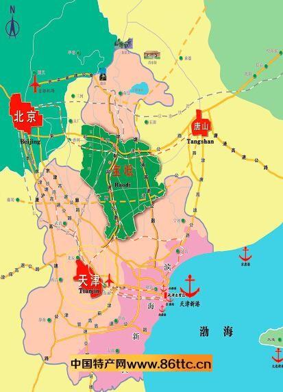 p46 在京唐秦发展轴上,宝坻与北京,唐山,秦皇岛并列为四大重要节点.