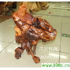 风格根雕 红豆杉根雕工艺品 渔翁根雕工艺品满载而归
